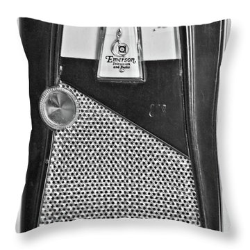 Throw Pillow featuring the photograph Transistor Radio Blown Up by Matthew Bamberg