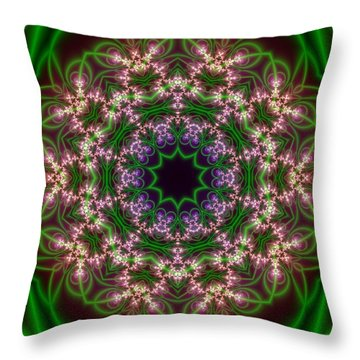 Transition Flower 10 Beats Throw Pillow