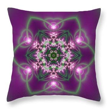 Throw Pillow featuring the digital art Transition Flower 6 Beats 3 by Robert Thalmeier