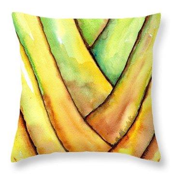 Travelers Palm Trunk Throw Pillow