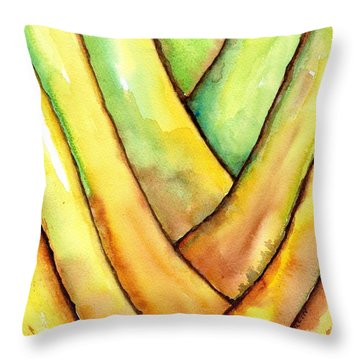 Travelers Palm Trunk Throw Pillow