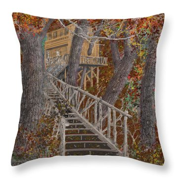 Tree House #1  Throw Pillow