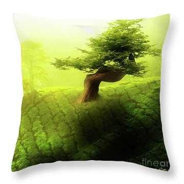Tree Of Life Throw Pillow by Mo T