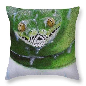 Tree Python Throw Pillow