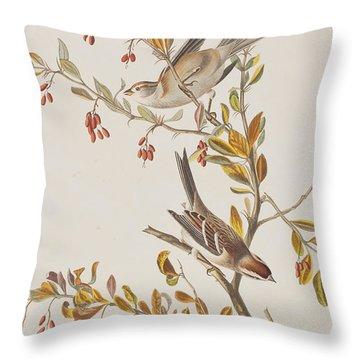 Tree Sparrow Throw Pillow by John James Audubon