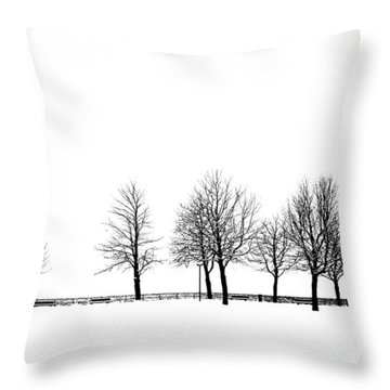 Throw Pillow featuring the photograph Trees by Chevy Fleet