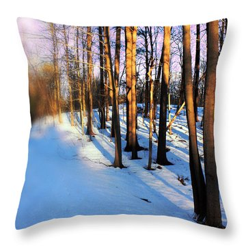 Trees Photography Throw Pillow by Mark Ashkenazi