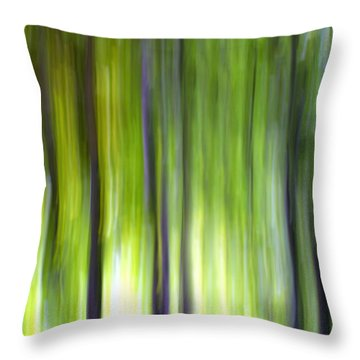 Trees Throw Pillow by Silke Magino