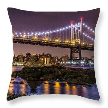 Triboro Bridge Throw Pillow