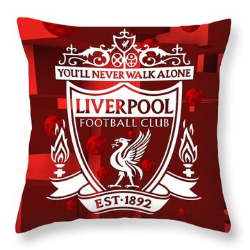 Tribute To Liverpool 3 Throw Pillow