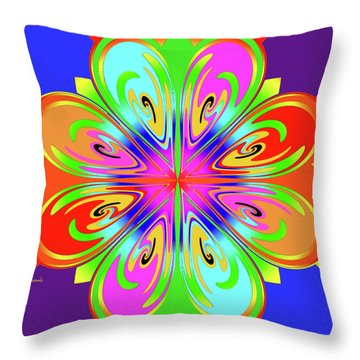 Tribute To Peter Max Throw Pillow