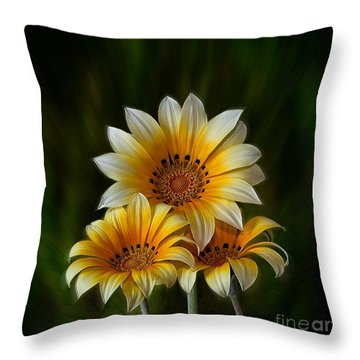 Triple Sunshine Throw Pillow
