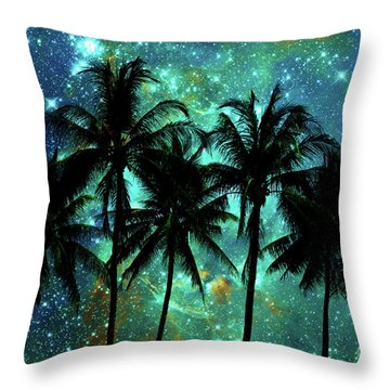 Throw Pillow featuring the photograph Tropical Night by Delphimages Photo Creations