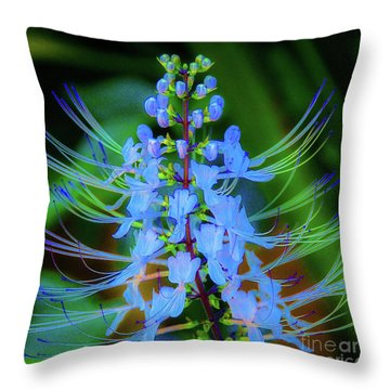 Tropical Plants And Flowers In Hawaii Throw Pillow
