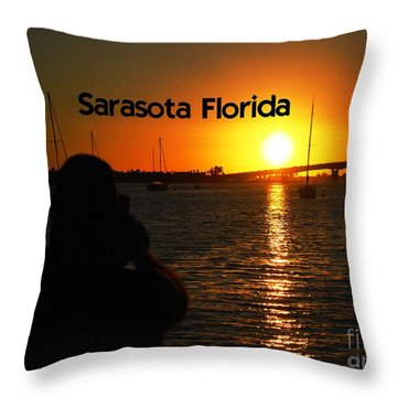 Tropical Sunset Throw Pillow by Gary Wonning