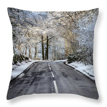 Trossachs Scenery In Scotland Throw Pillow