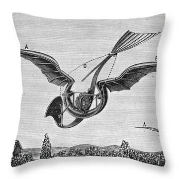 Trouv�s Ornithopter Throw Pillow by Granger