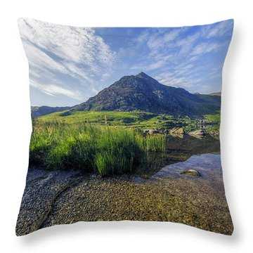 Throw Pillow featuring the photograph Tryfan Mountain by Ian Mitchell