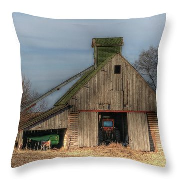 Tucked  Away In Rural Iowa Throw Pillow