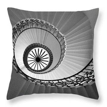 Throw Pillow featuring the digital art Tulip Staircase by Julian Perry