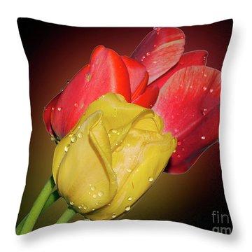 Tulips Throw Pillow by Elvira Ladocki