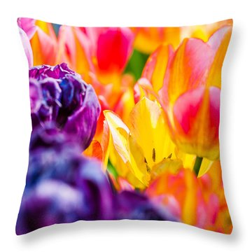Throw Pillow featuring the photograph Tulips Enchanting 39 by Alexander Senin
