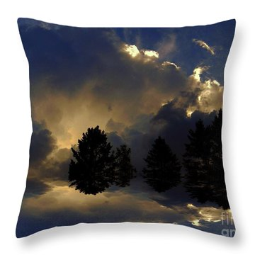Tumultuous Throw Pillow by Elfriede Fulda