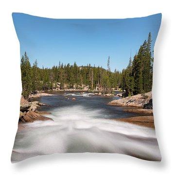 Tuolumne River Throw Pillow
