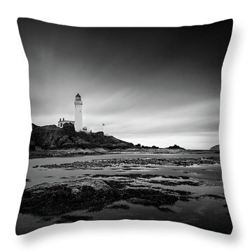 Turnberry Lighthouse Throw Pillow