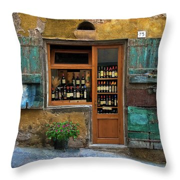 Tuscany Wine Shop 2 Throw Pillow