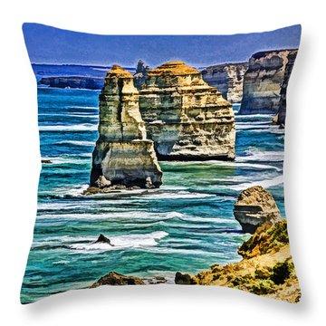 Twelve Apostles Throw Pillow by Dennis Cox WorldViews