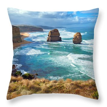 Twelve Apostles Great Ocean Road Throw Pillow by Bill  Robinson