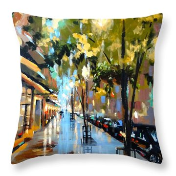 Twenty One East Hubbard Street Chicago Throw Pillow