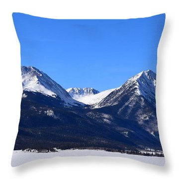 Throw Pillow featuring the photograph Twin Lakes Mountains Leadville Co by Margarethe Binkley