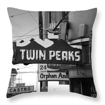 1 Twin Peaks Bar In San Francisco Throw Pillow