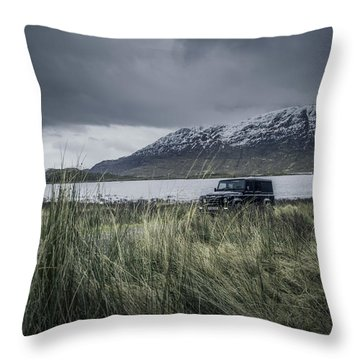 Twisted Land Rover Defender Throw Pillow