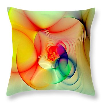 Twisted Rings Inverted Throw Pillow