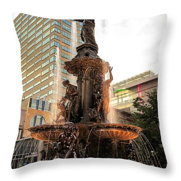 Tyler Davidson Fountain Throw Pillow