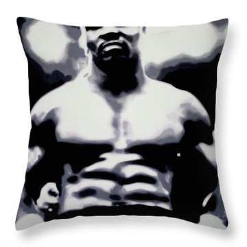 Tyson Throw Pillow by Luis Ludzska