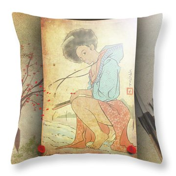 Ukyo-e Soul Throw Pillow