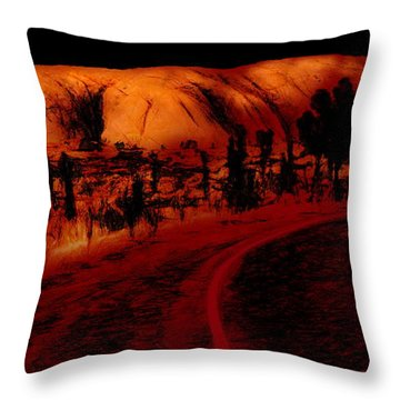 Uluru Sunrise Throw Pillow