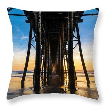 Under The Oceanside Pier Throw Pillow