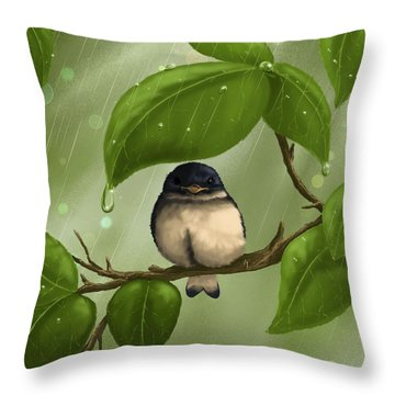 Under The Rain Throw Pillow