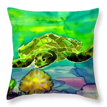 Under The Sea Throw Pillow by Beverly Johnson