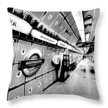 Underground London Art Throw Pillow by David Pyatt