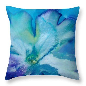 Underwater Flower Abstraction 7 Throw Pillow by Lorella Schoales
