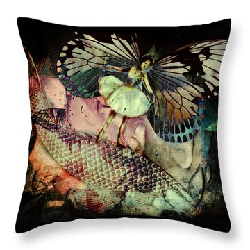 Throw Pillow featuring the digital art Underwater Ride by Delight Worthyn