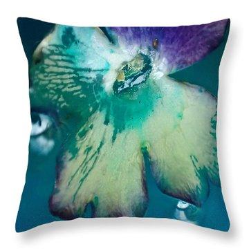 Underwaterflower Abstraction 6 Throw Pillow by Lorella Schoales