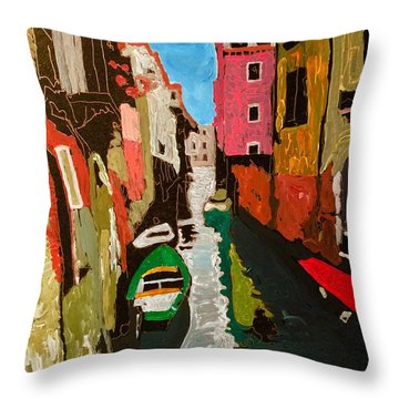Unfinished Venice Italy  Throw Pillow
