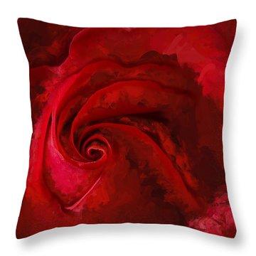 Unfurling Beauty Iv Throw Pillow
